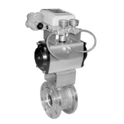 Flange Pneumatic V Type Regulate Ball Valve
