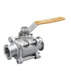 Three-Piece T-Clamp Sanitary Type Ball Valve