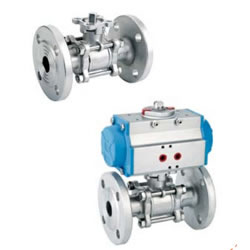 Three-Piece Flange Ball Valve (With High Mounting Pad)