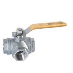 Three-Way Ball Valve Screw End